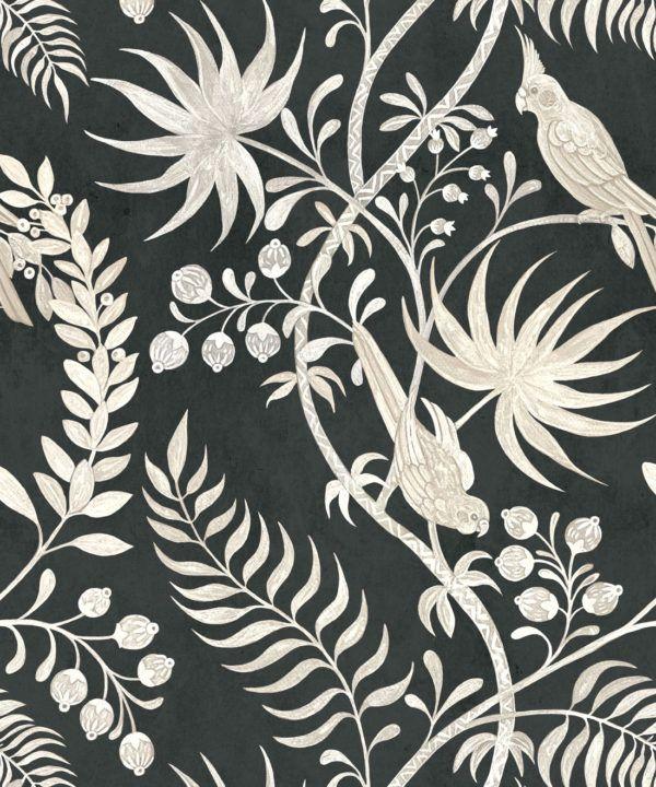 Tropicana Wallpaper • Charcoal • Swatch