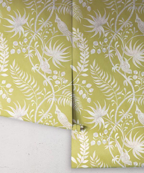 Tropicana Wallpaper • Chartreuse • Rolls