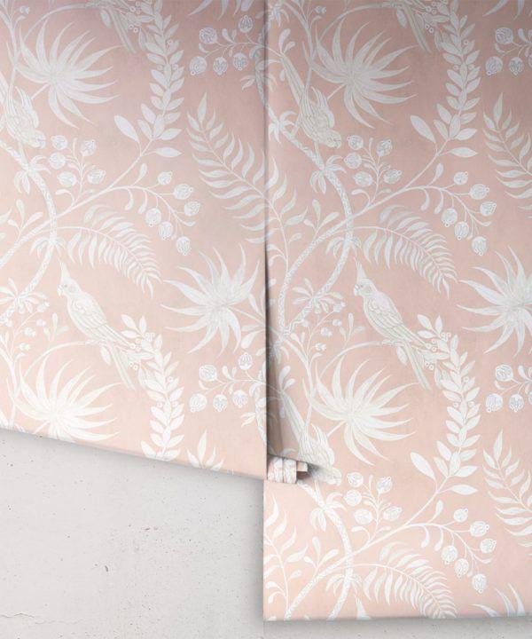Tropicana Wallpaper • Dusty Pink • Rolls