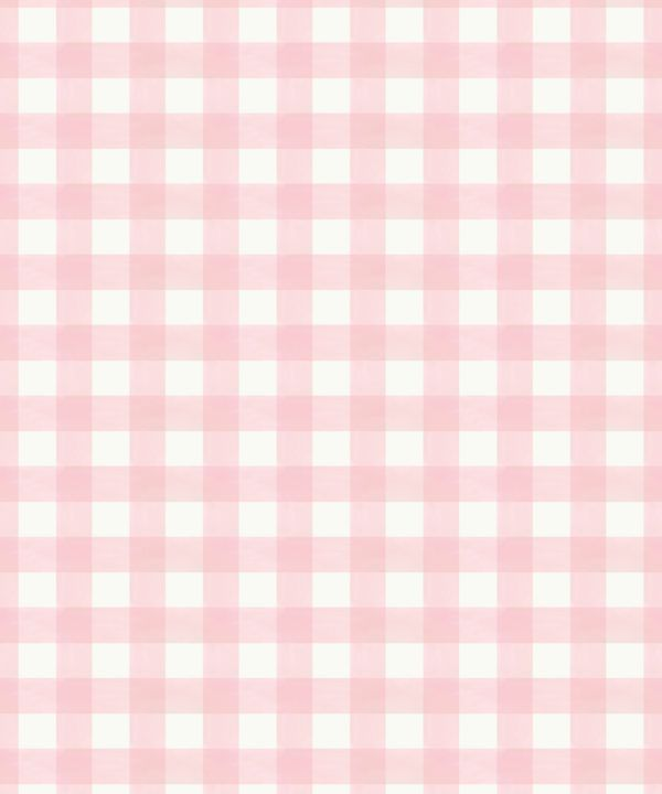 Check Wallpaper • Pink •Swatch
