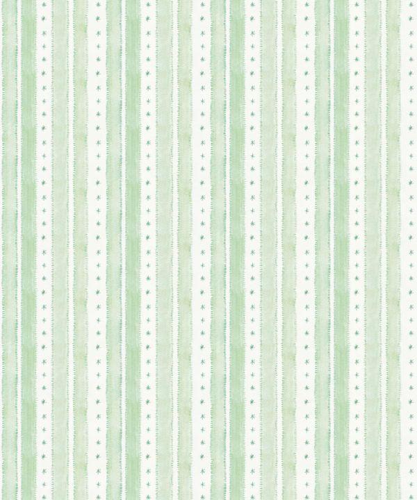 Star Stripe Wallpaper • Green • Swatch