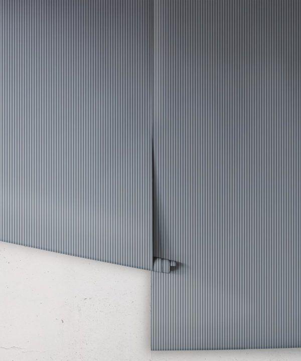 Ticking Stripe Wallpaper • Grey Wallpaper • Rolls