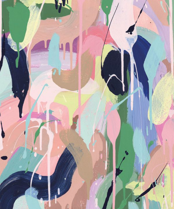 Between Tides Wallpaper •Colourful Painterly Wallpaper • Tiff Manuell • Abstract Expressionist Wallpaper • Swatch