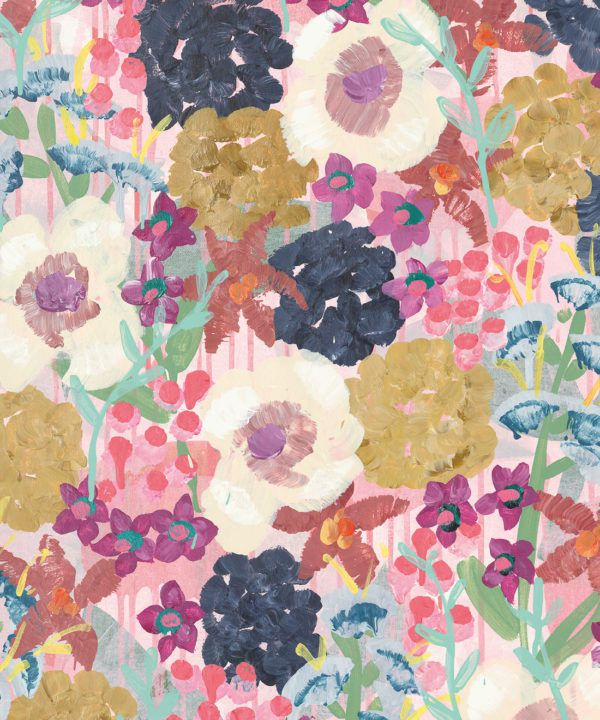 Garden State Wallpaper •Colourful Floral Wallpaper • Tiff Manuell • Abstract Expressionist Wallpaper • swatch