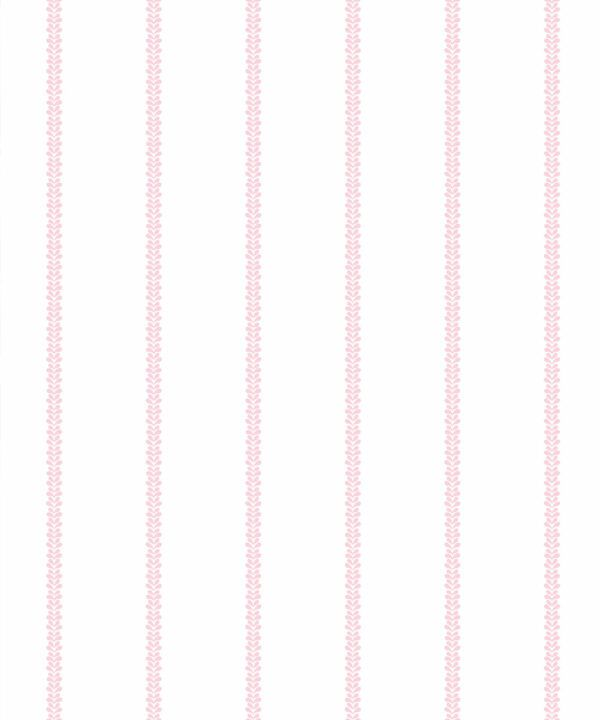 Chemin Wallpaper • Striped Wallpaper • Blush • Swatch