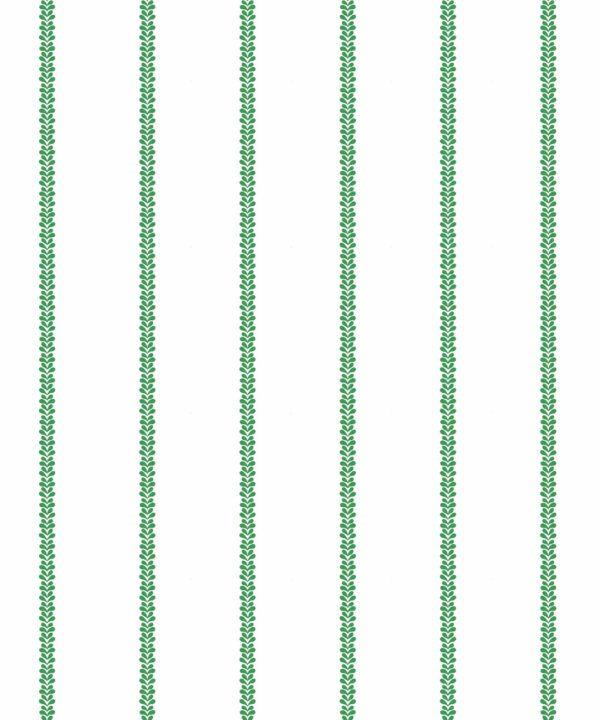 Chemin Wallpaper • Striped Wallpaper • Forest Green • Swatch