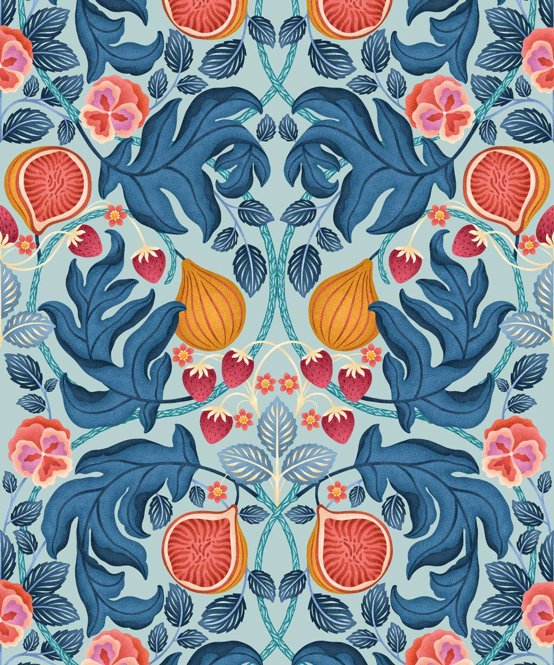 Figs & Strawberries Wallpaper
