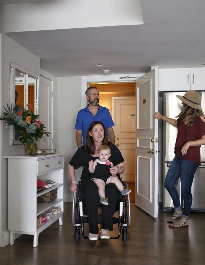 Matt, Sam and Abby walk into their newly renovated space by Jillian Harris