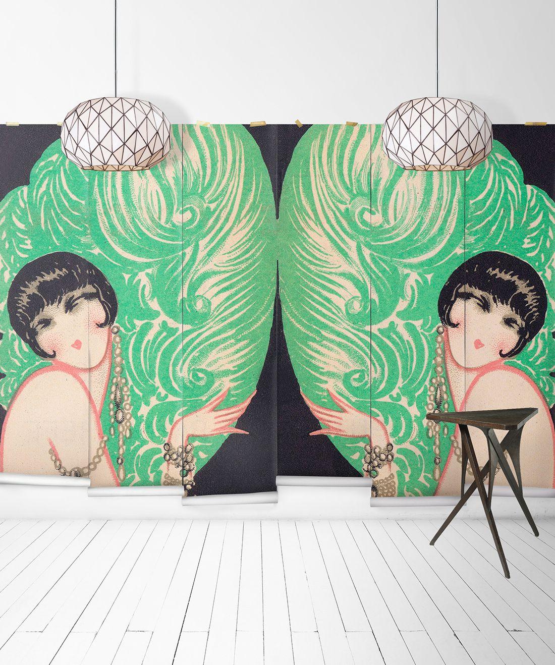 Mirrored Burlesque Mural