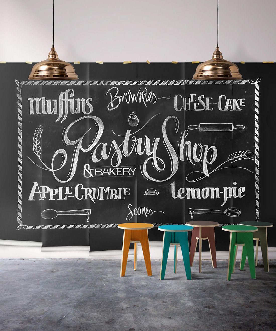 Chalkboard Pastry Mural