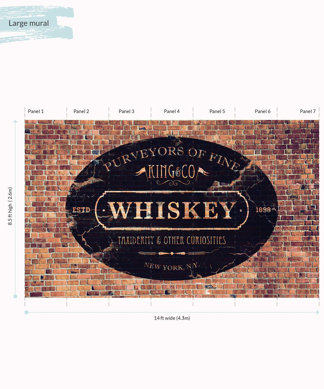 King & Co Whiskey Mural - Large
