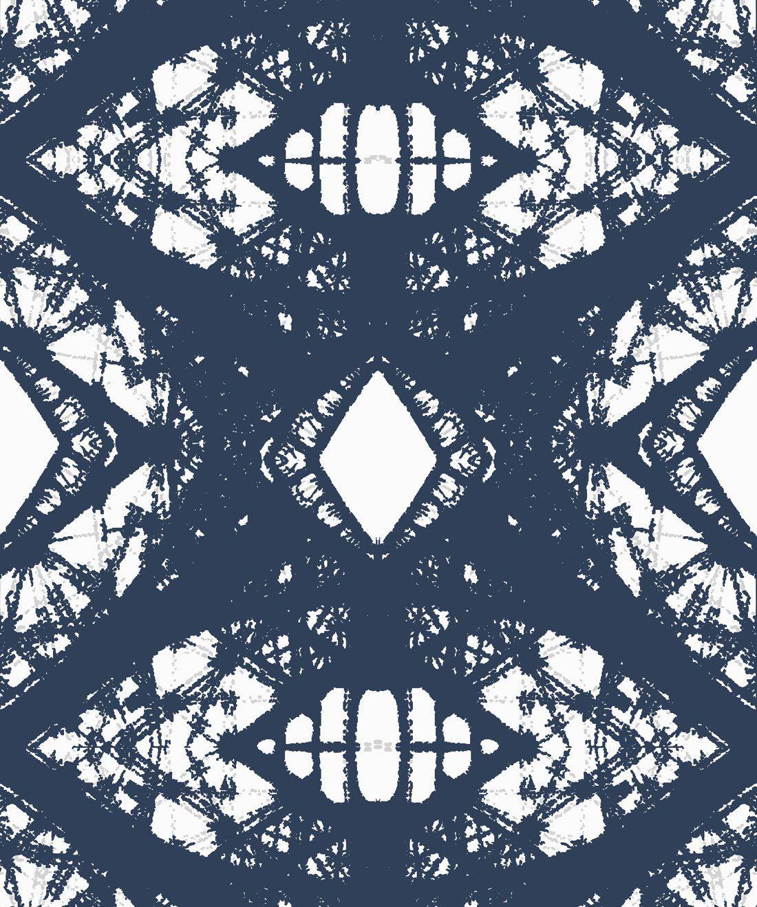 Esther Wallpaper Blue