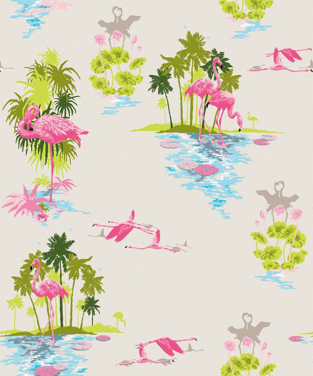Flamingo Dusk Wallpaper