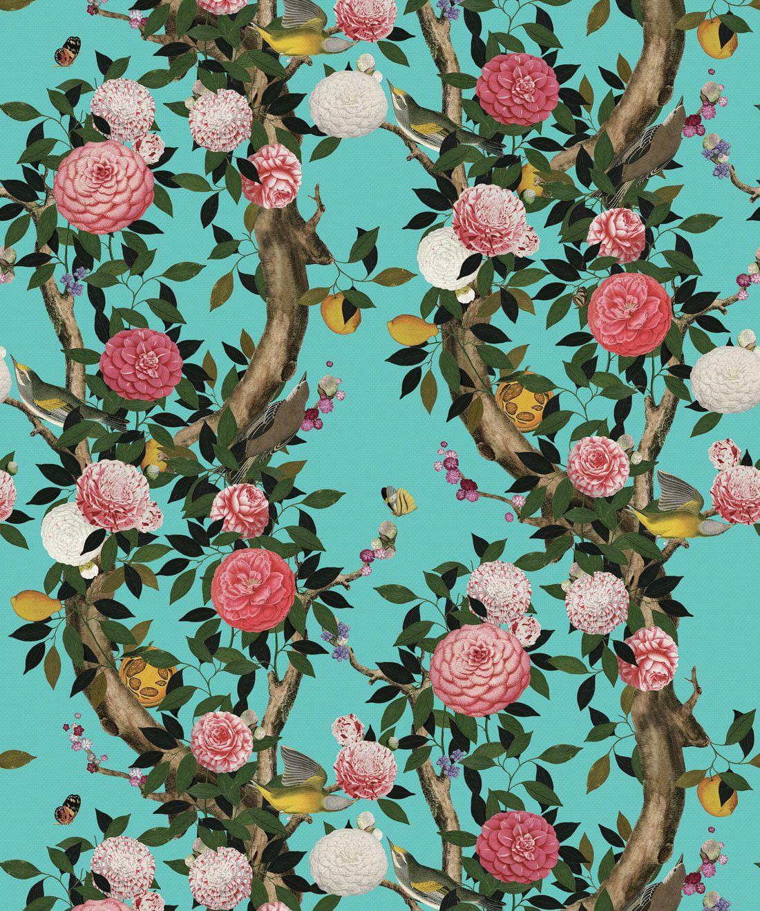 Garden Bloom Teal