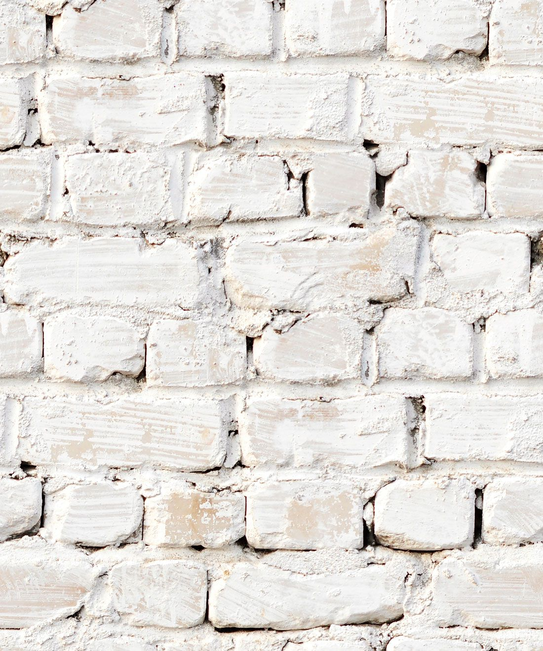 Whitewash Bricks Wallpaper