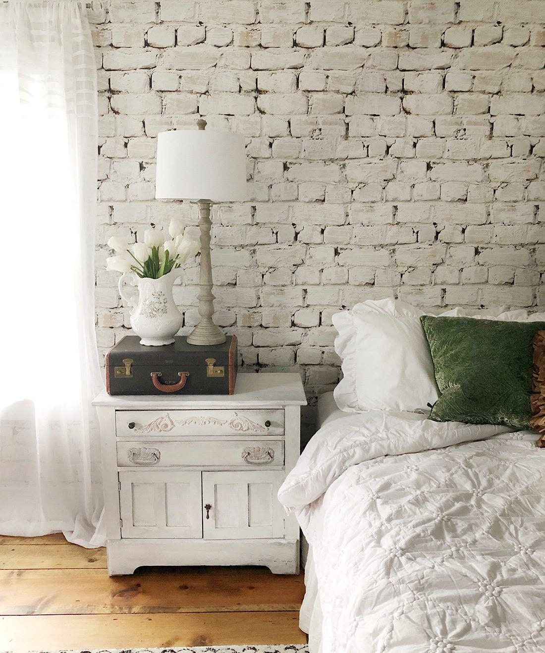 Whitewash Brick Wallpaper •White Brick Wallpaper