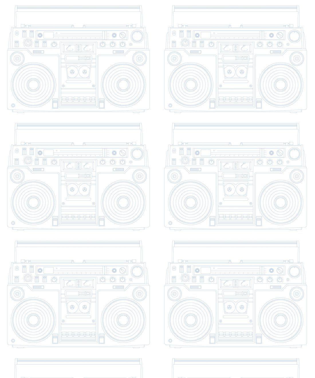 BoomBox PaleBlue Wallpaper