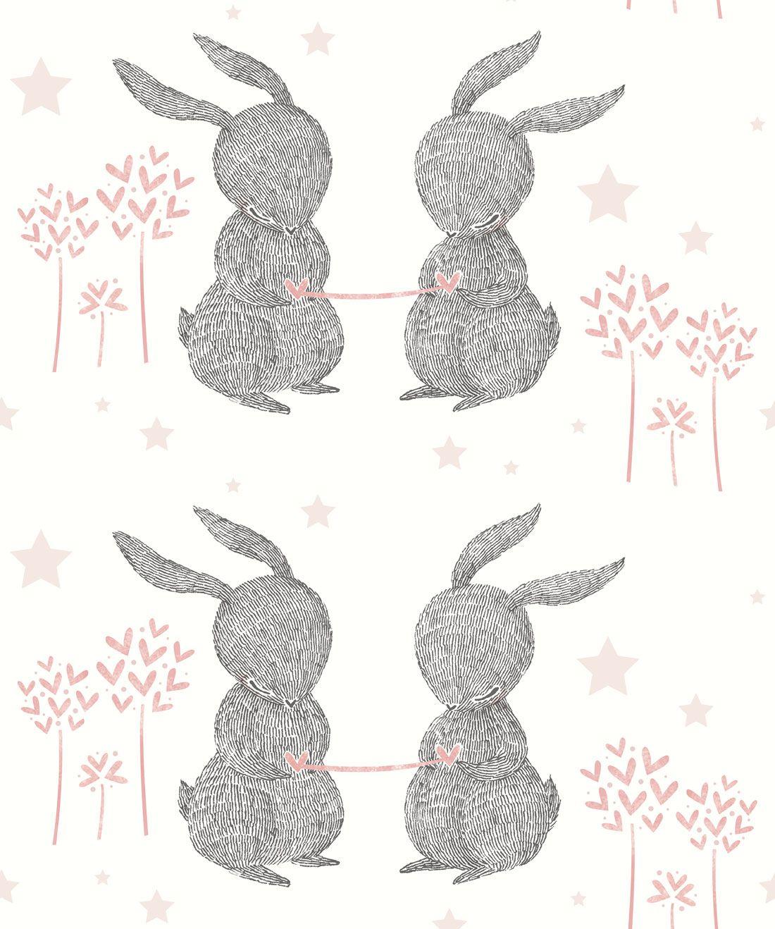 Rabbit Hearts Wallpaper