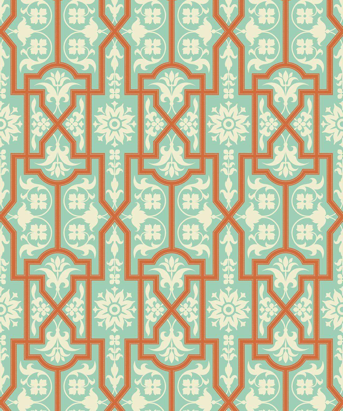 Architectural Apricot Wallpaper