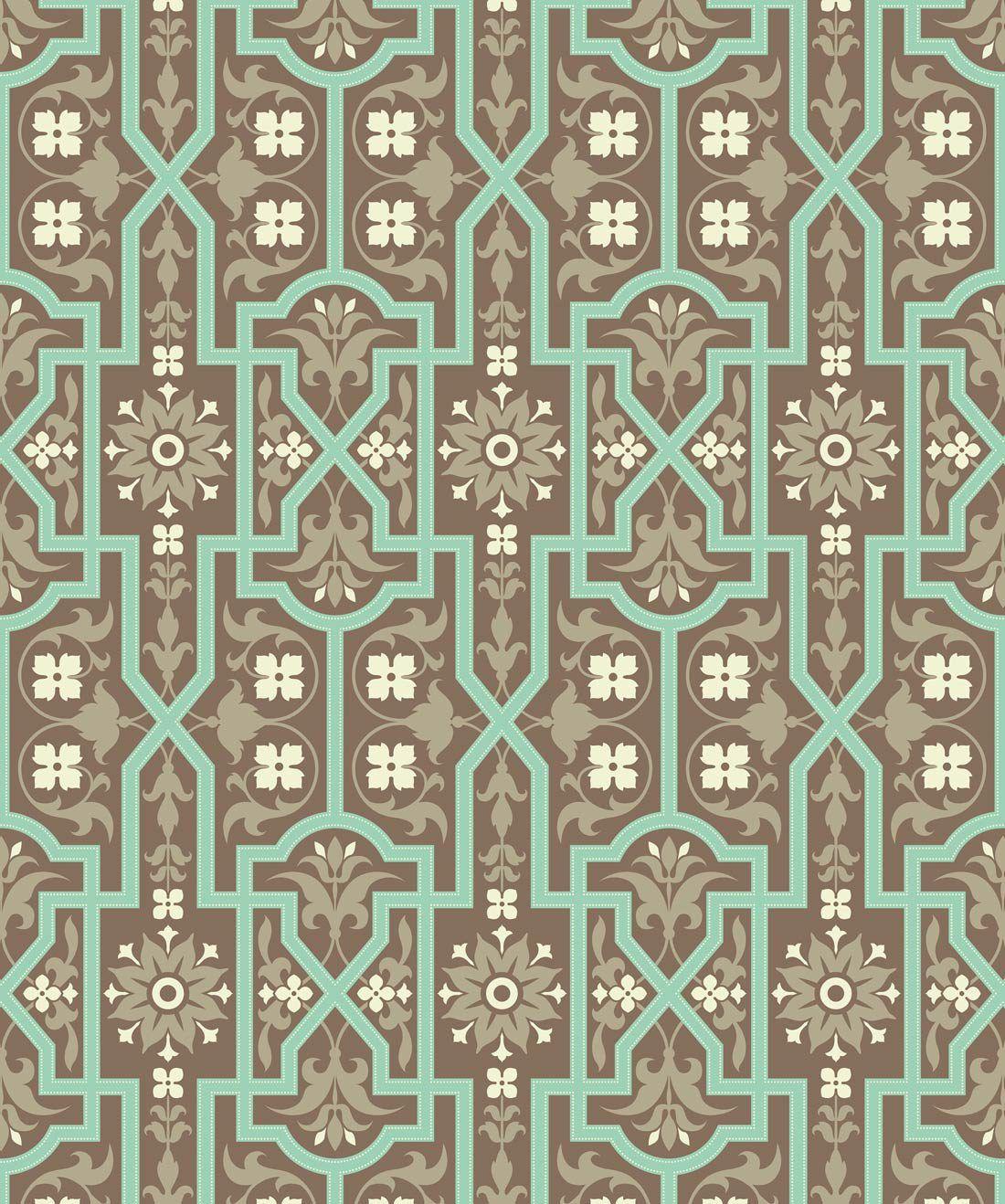 Architectural Mint Slice Wallpaper