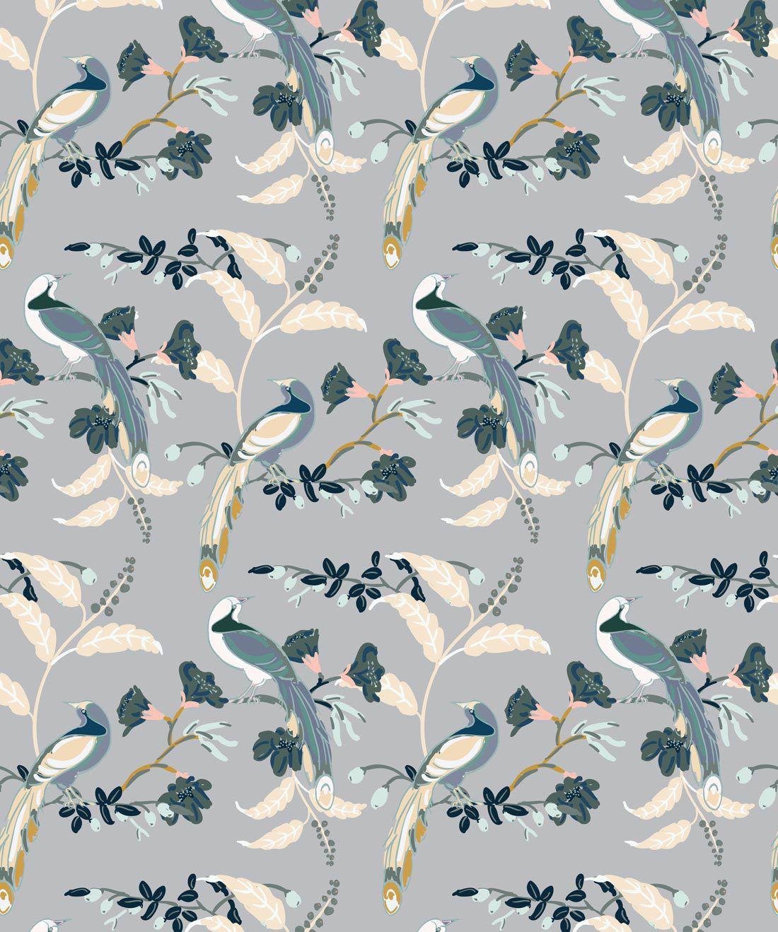 Birds Of Paradise Grey •Milton & King