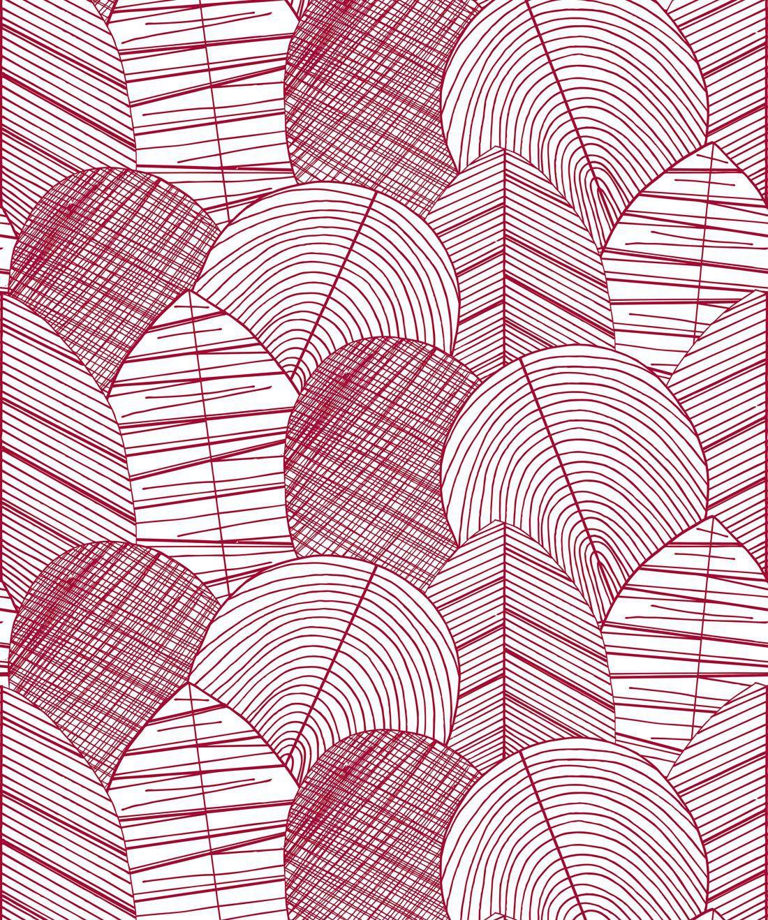 Byronian Hills Cranberry Wallpaper