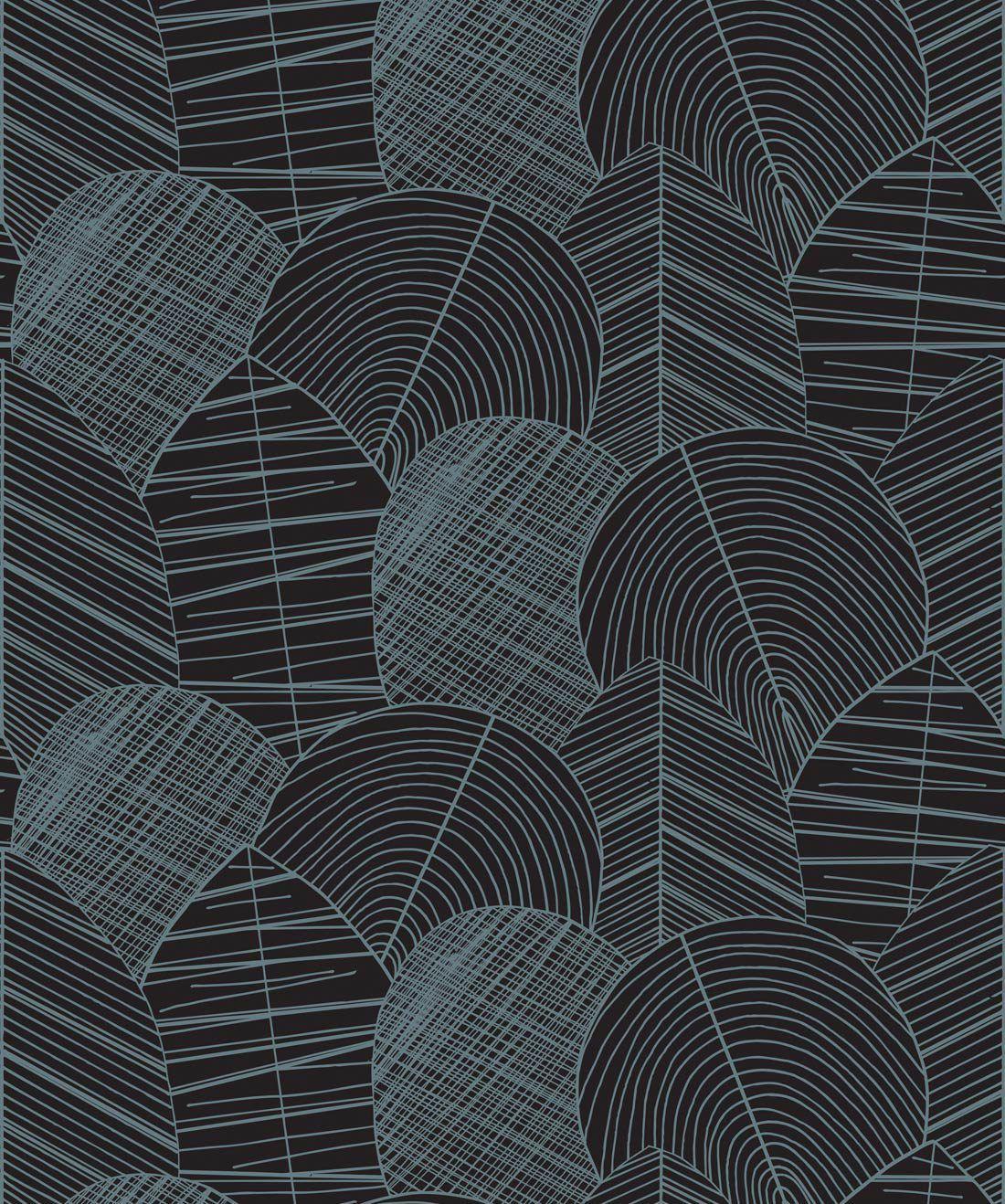 Byronian Hills Slate Blue Wallpaper