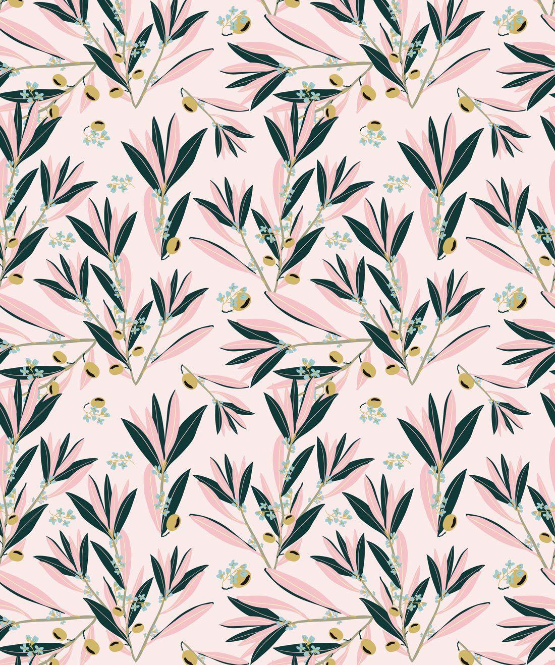Olive Dapple Blushing Pink