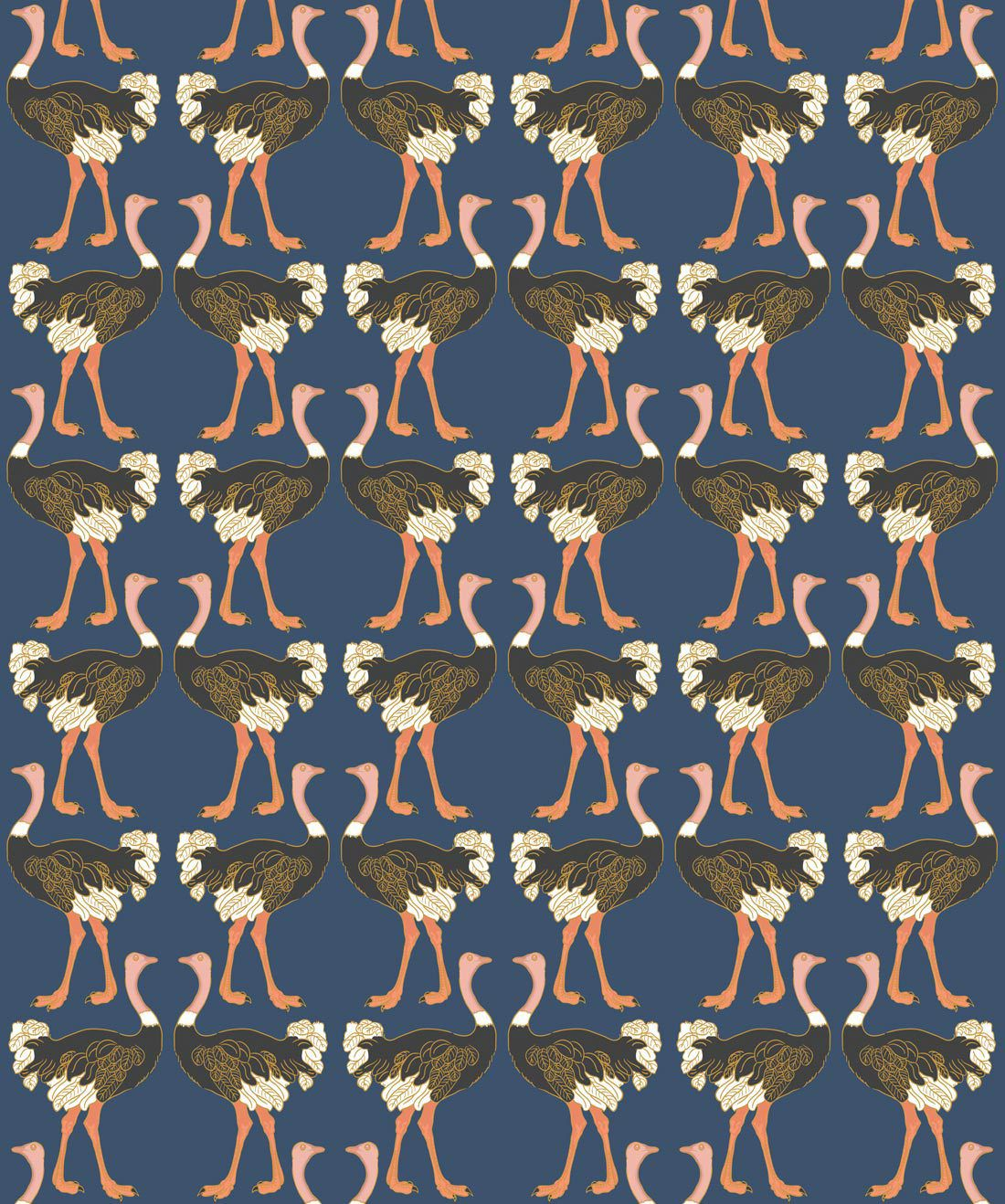 Ostrich Strut Midnight Stroll