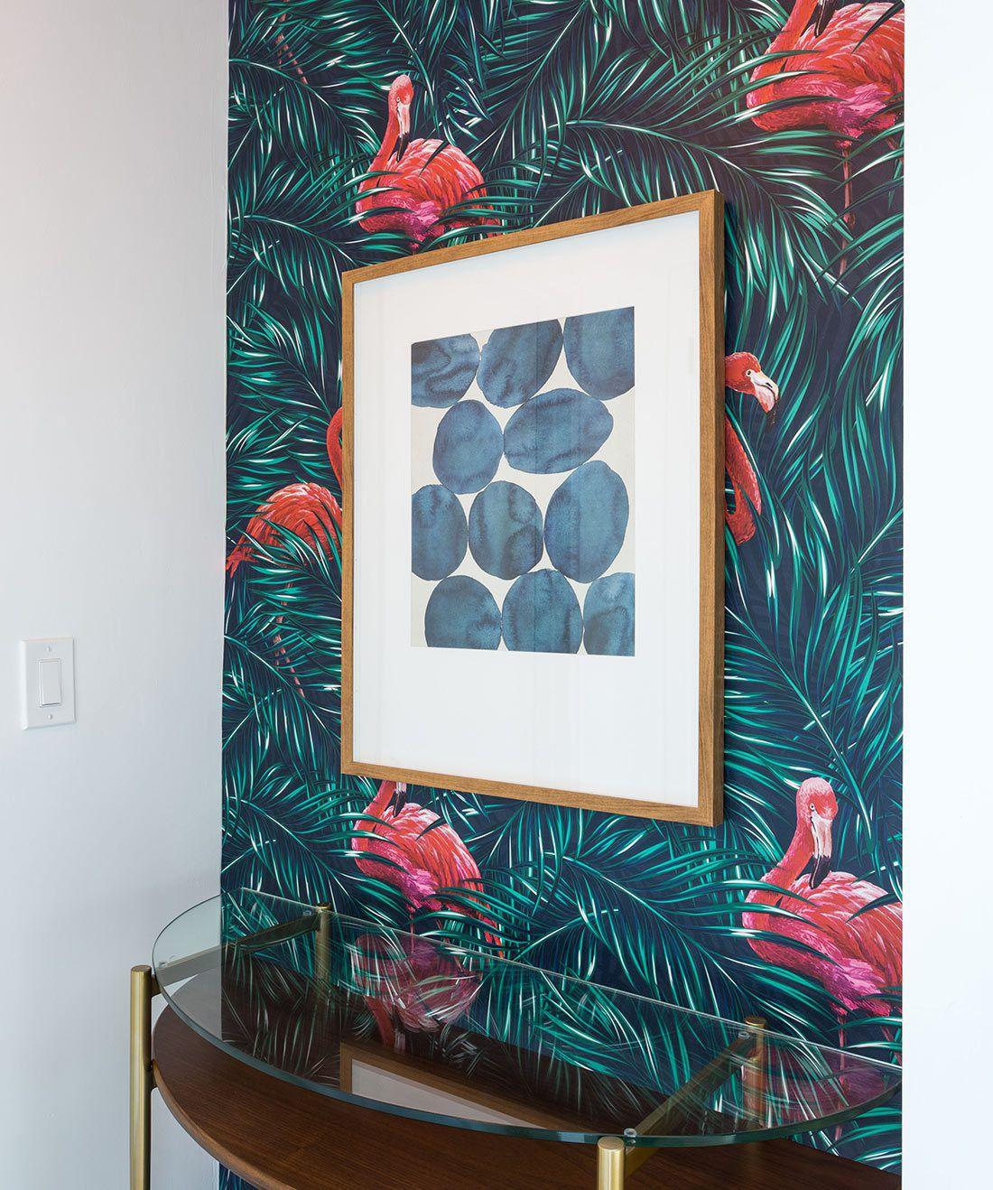 Tropical Flamingos Wallpaper • Milton & King USA