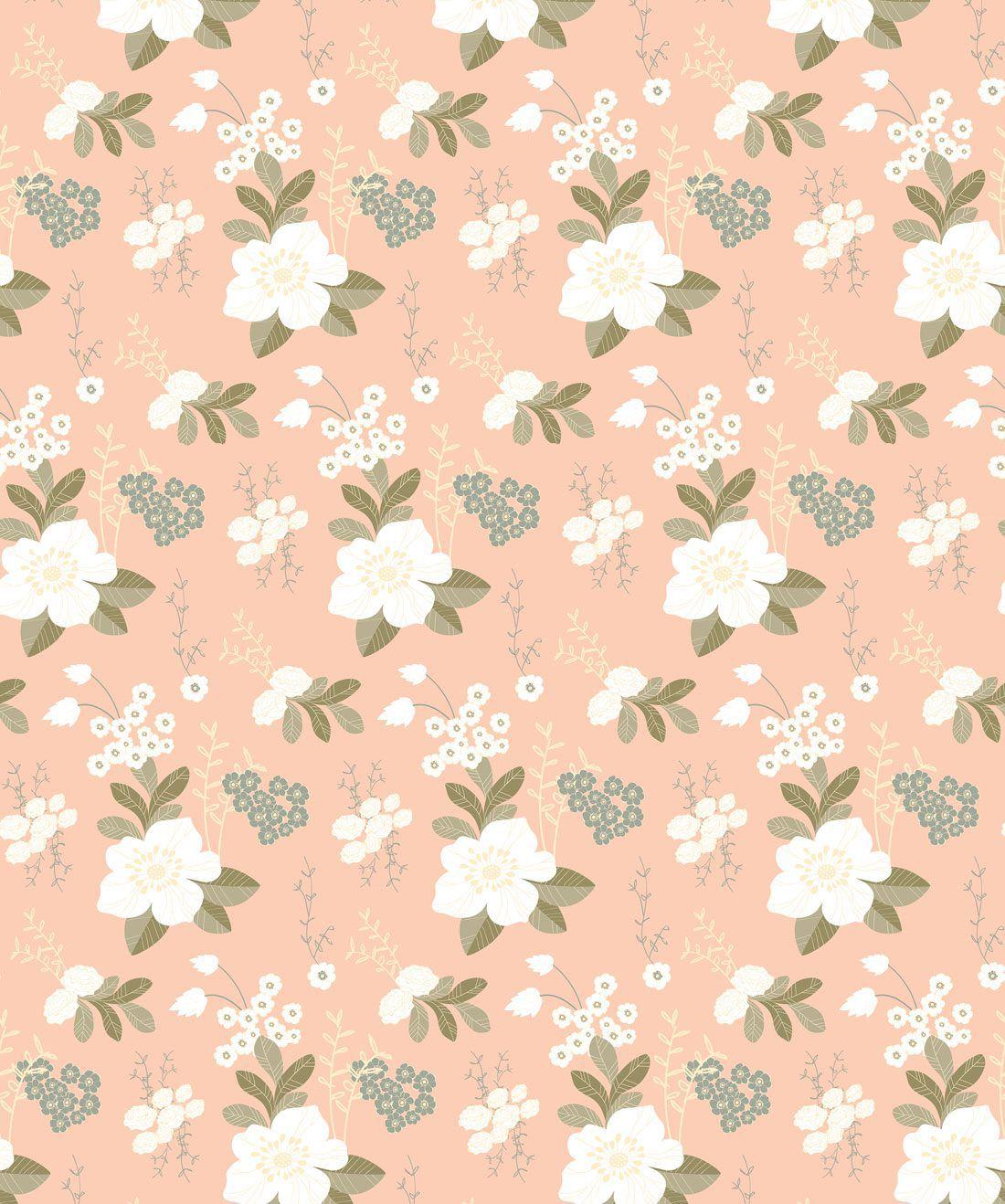 Flower Garden - Peachy Wallpaper