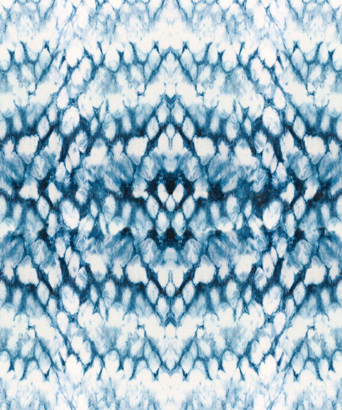 Entomology Indigo Wallpaper