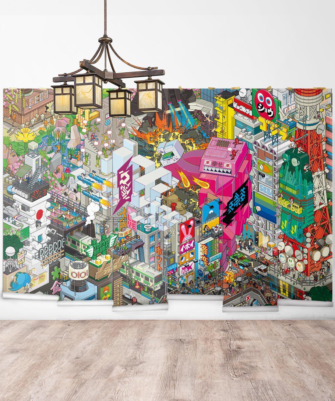 eBoy Tokyo wall Mural •Milton & King