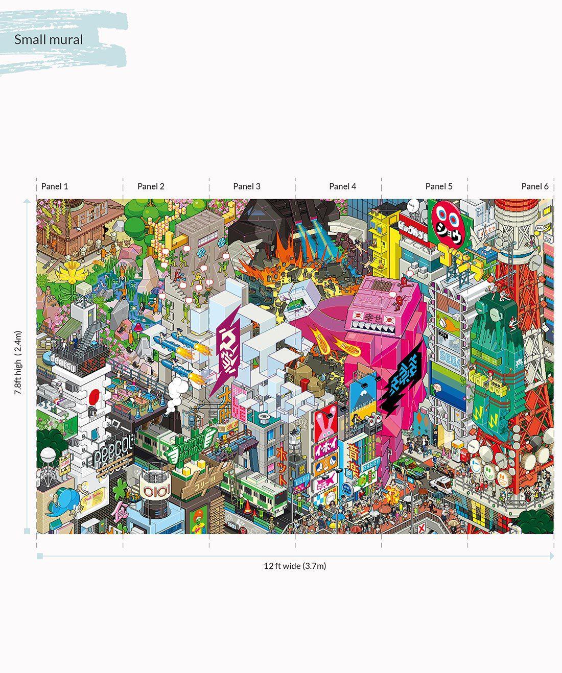eBoy Tokyo wall Mural Small •Milton & King