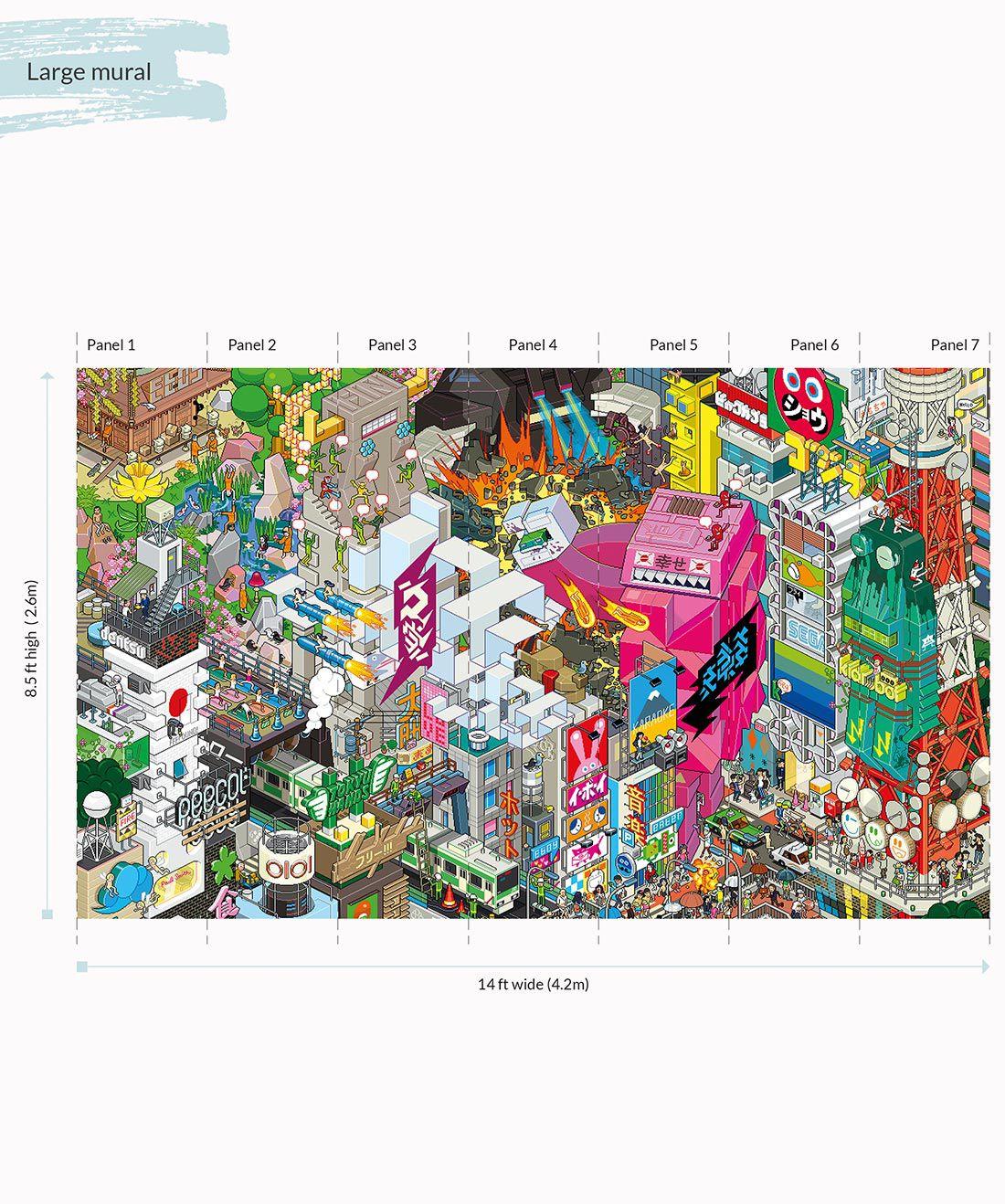 eBoy Tokyo wall Mural Large •Milton & King