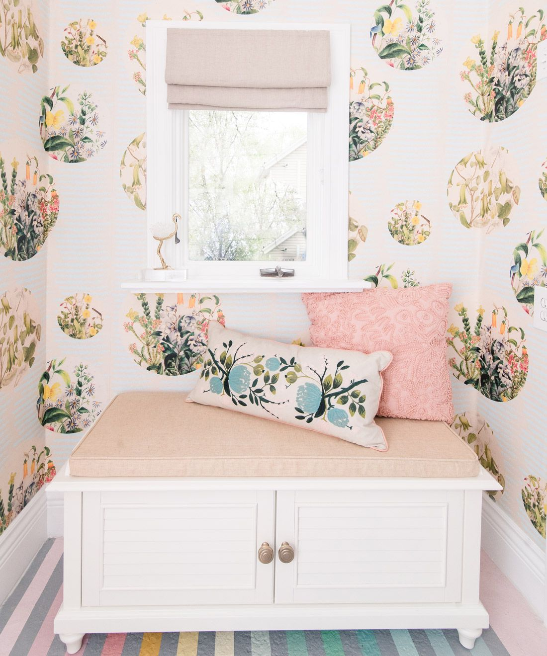 Euphemia 5 Wallpaper • Laundry Room Wallpaper • At Home With Ashley Wilson