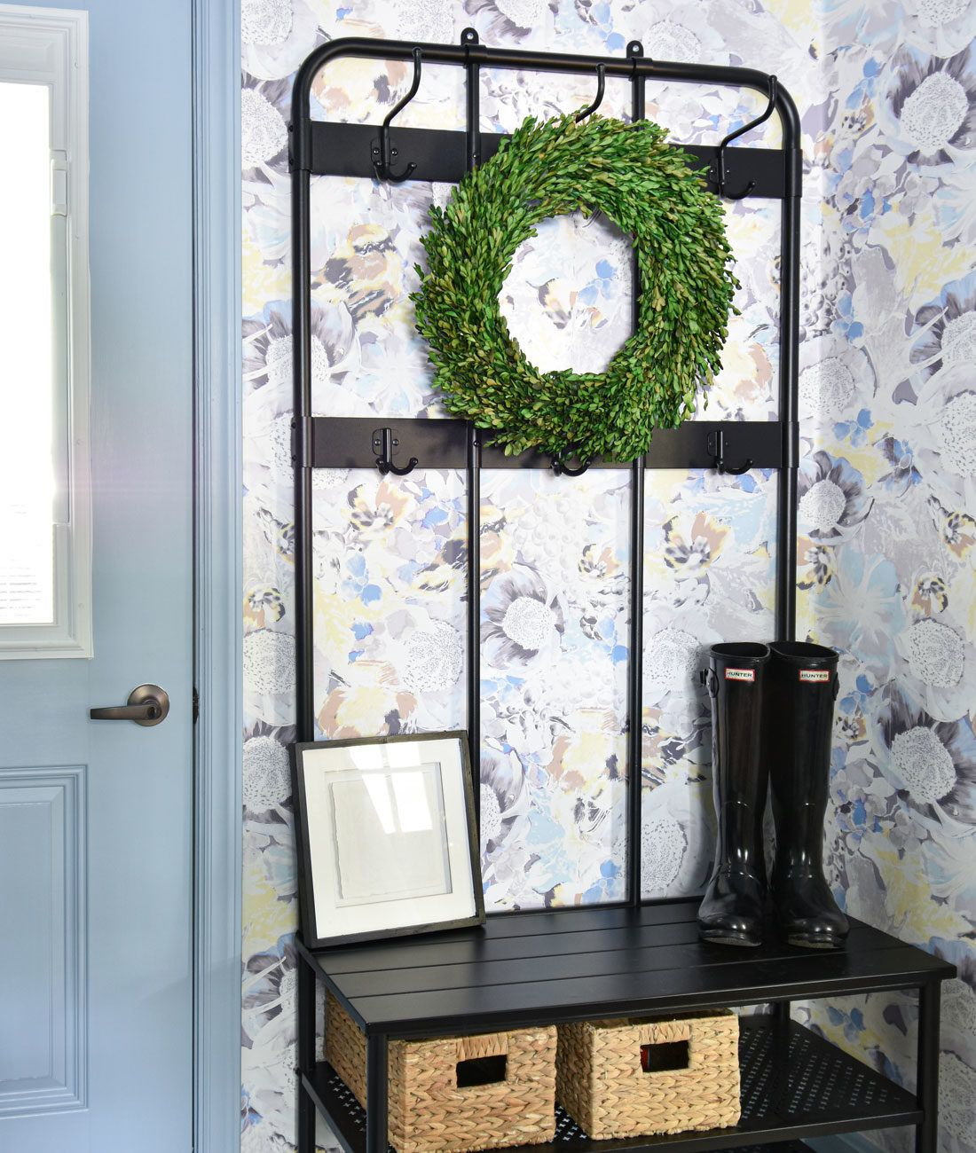 Felicity Wallpaper • Blue and Yellow Floral Wallpaper • Milton & King USA