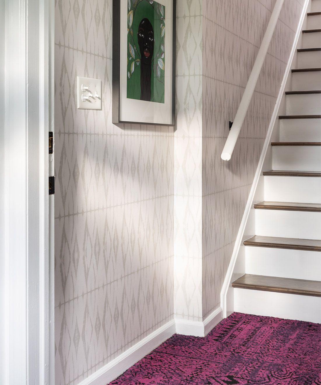 Shibori Diamonds wallpaper • Calm • Neutral Wallpaper • Beige Wallpaper •Geometric Wallpaper • Beth Diana Smith • Entryway Wallpaper