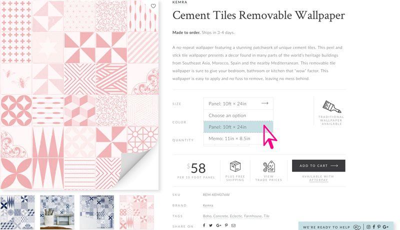 Cement Tiles Size