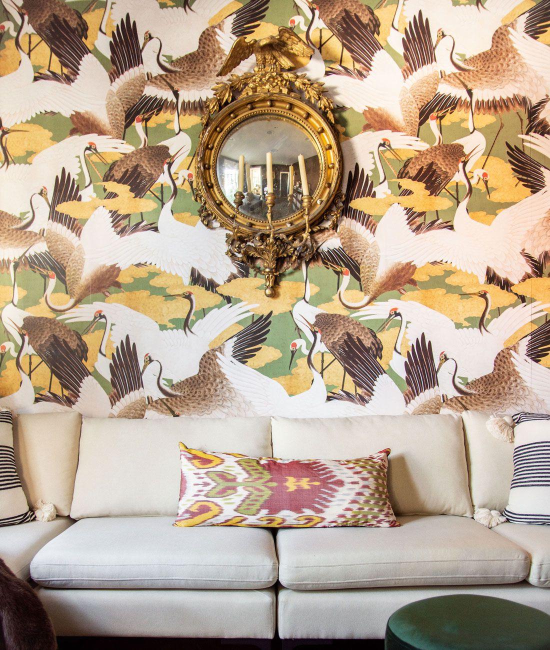 Cranes Wallpaper • Green wallpaper •Kevin O'Gara