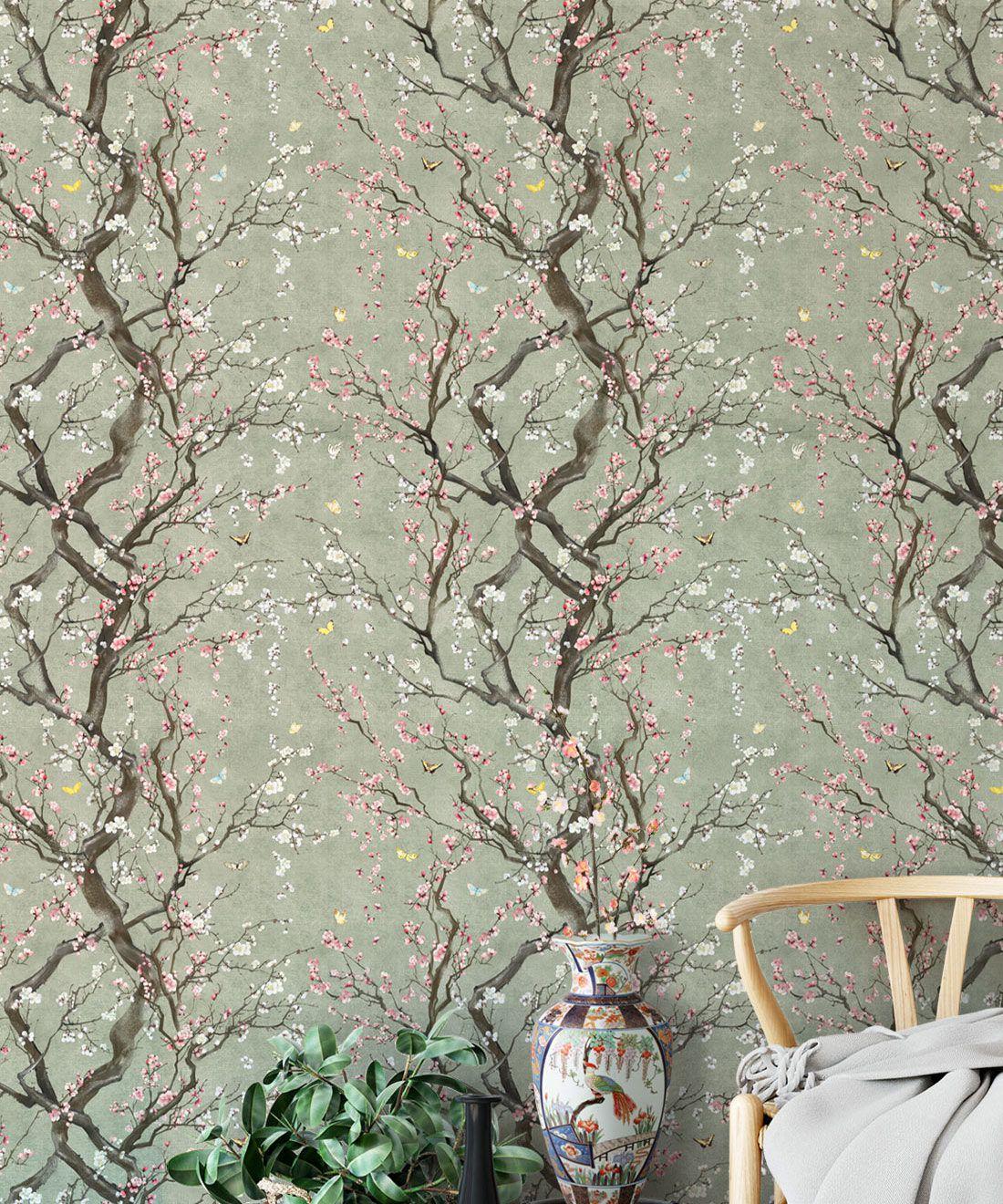 Plum Blossom Wallpaper • Chintzy Wallpaper