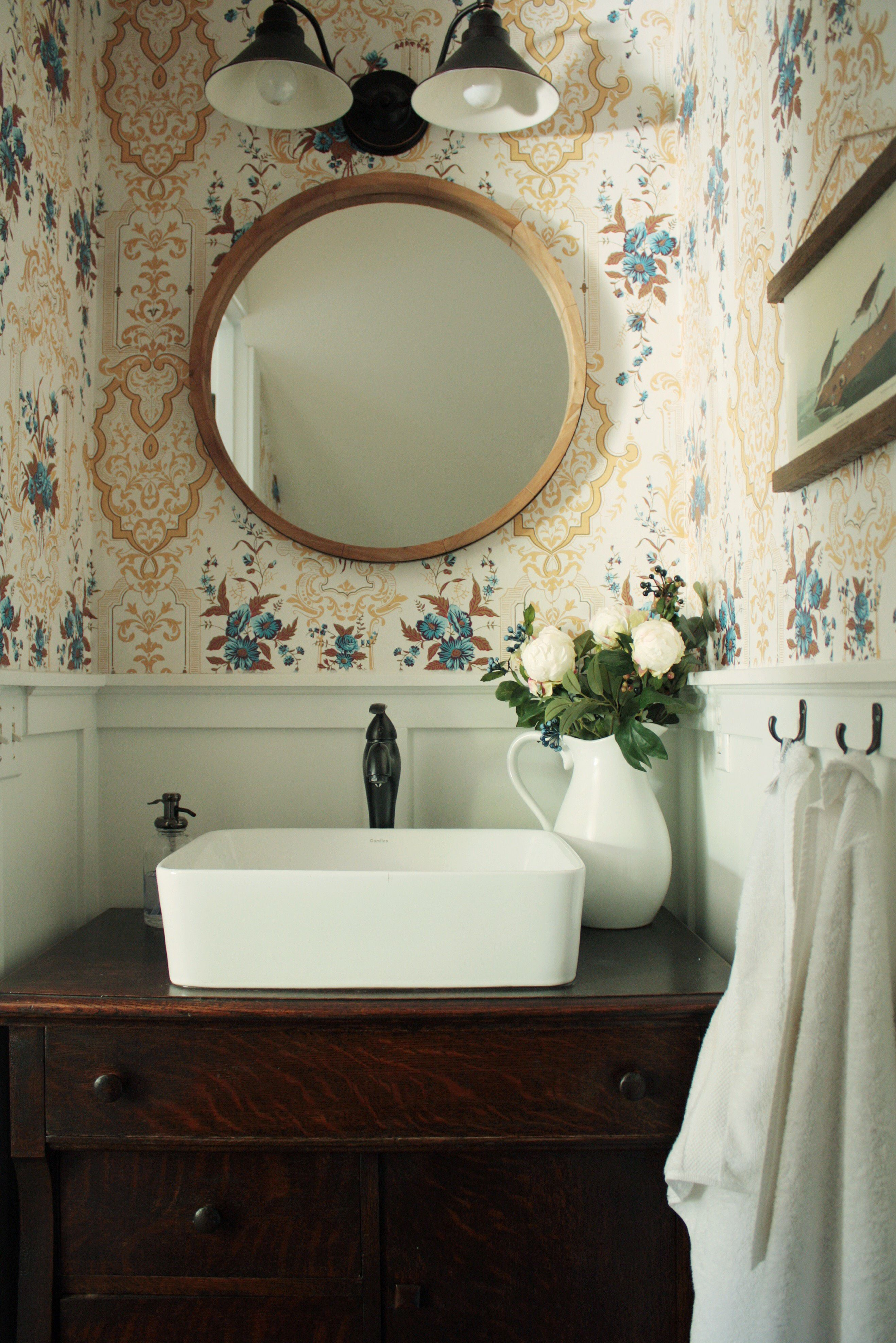 Wallpaper In The Bathroom Milton King