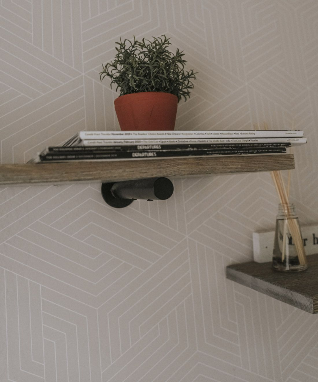 Geometric Illusions • Warm Grey • Neutral Wallpaper • Lauren Fleischmann • @theburbgirl