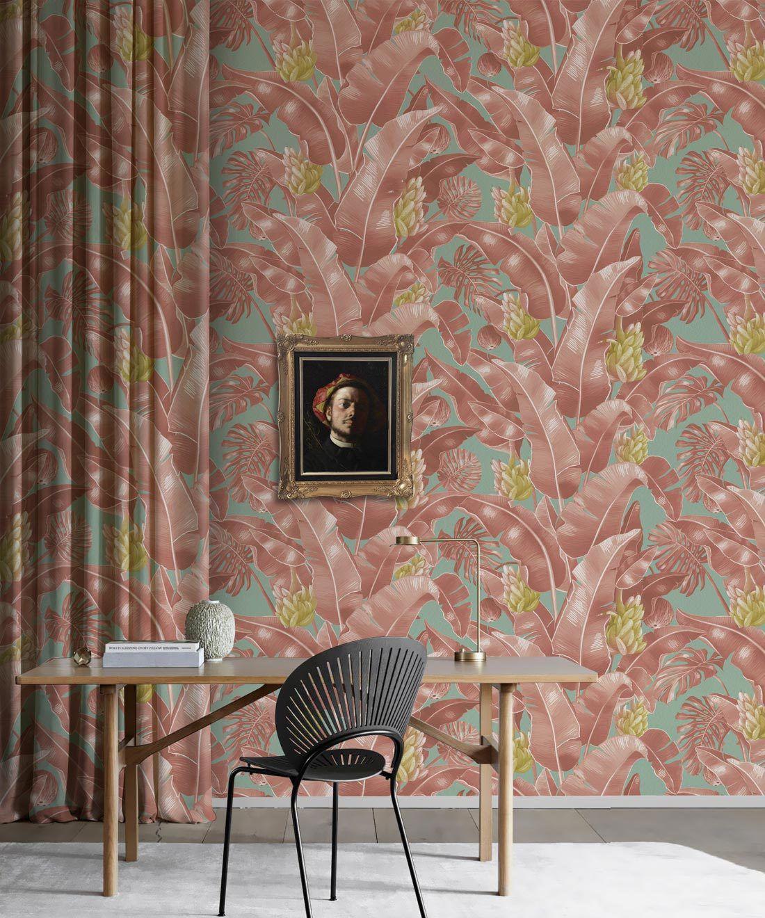 Kingdom Palm Rosada • Tropical Leaf Wallpaper • Milton & King