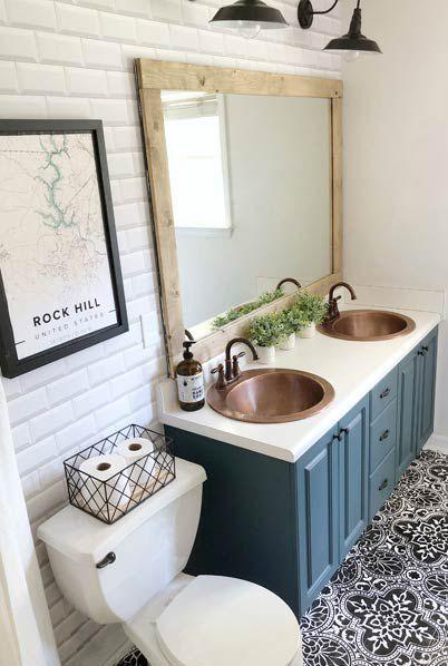 White Subway Tiles Wallpaper • WithLoveSierra On Instagram Bathroom Refresh