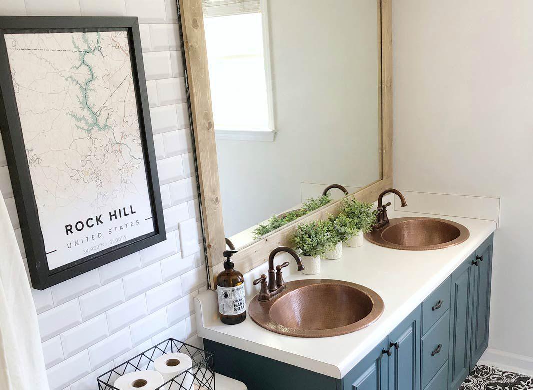 White Subway Tiles • Bathroom Wallpaper • Sierra Joseph