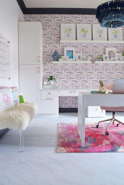 Birds Of Paradise • We're The Joneses One Room Challenge • Pink Bird Wallpaper • How To Remove Wallpaper