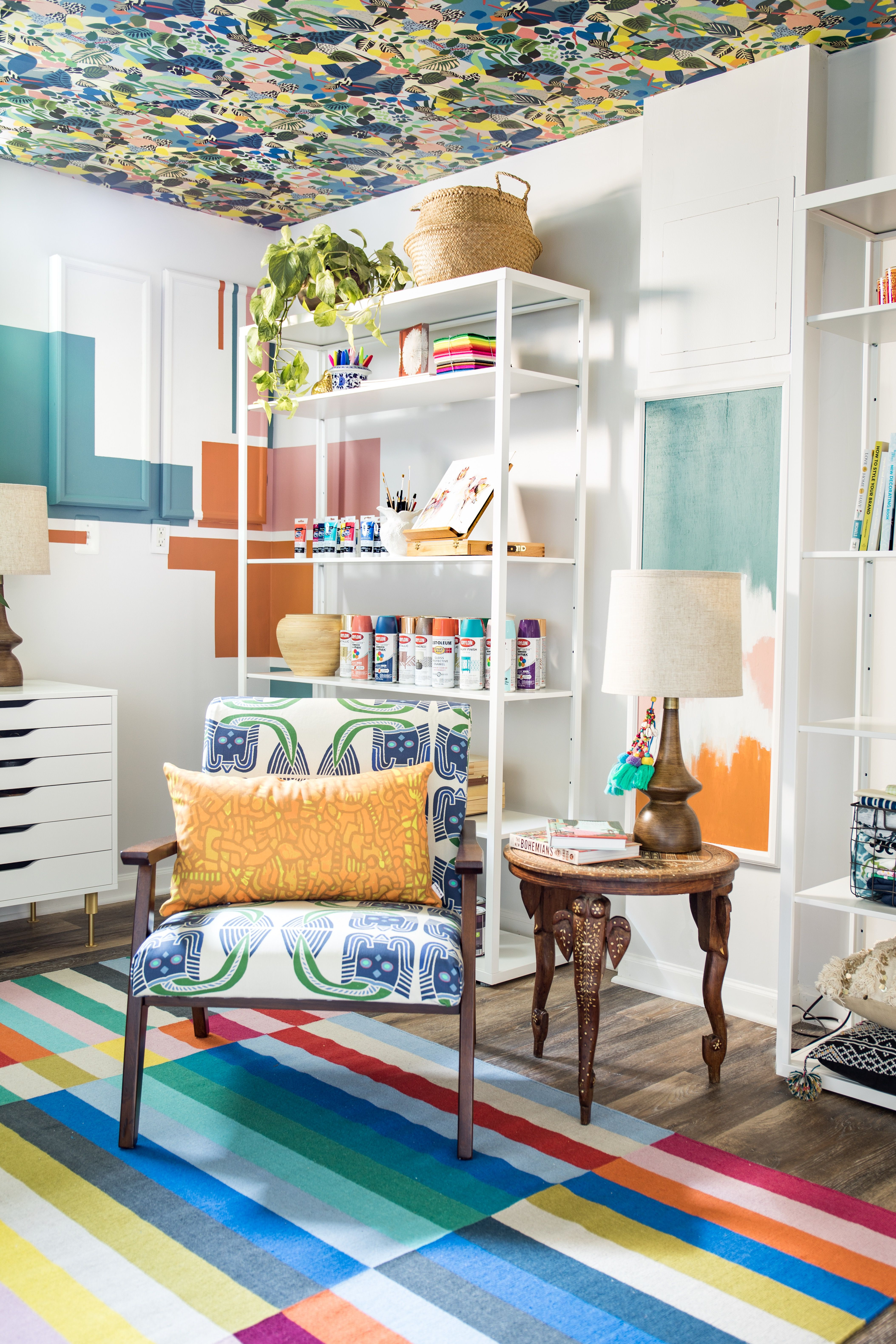 Overgrown Wallpaper • Home Office Wallpaper • Basement Wallpaper • Casa Watkins Blog • Milton & King USA