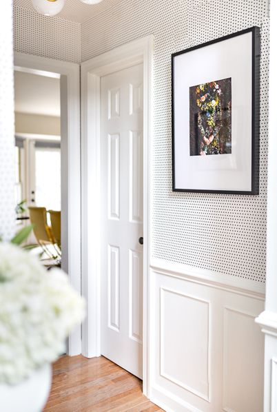Spotted Wallpaper • Hallway Wallpaper • Milton & King USA