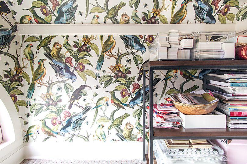 Home office wallpaper • Ornithology • Making It Lovely